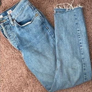 Re/Done button fly jeans